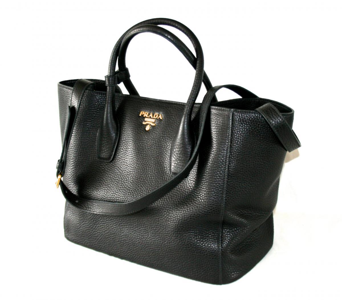 authentic luxury prada shoulder bag handbag 1bg694 black. Black Bedroom Furniture Sets. Home Design Ideas
