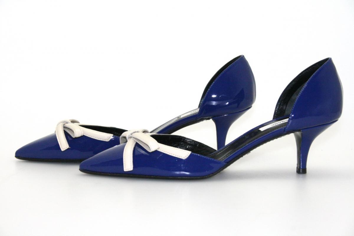 authentic luxury prada pumps shoes 1i794c inchiostro new 40 5 41 uk 7 5 ebay. Black Bedroom Furniture Sets. Home Design Ideas