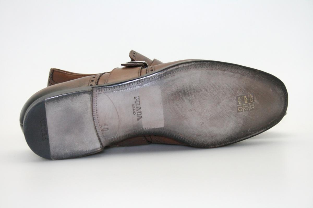 authentic luxury prada business shoes 2of001 brown new nib 10 44 44 5 ebay. Black Bedroom Furniture Sets. Home Design Ideas