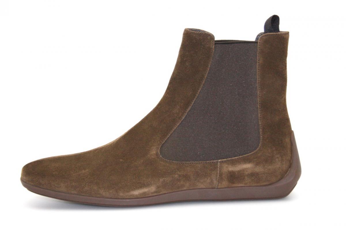 authentic luxury prada half boot shoes 2tg025 sigaro new us 10 eu 43 43 5 ebay. Black Bedroom Furniture Sets. Home Design Ideas