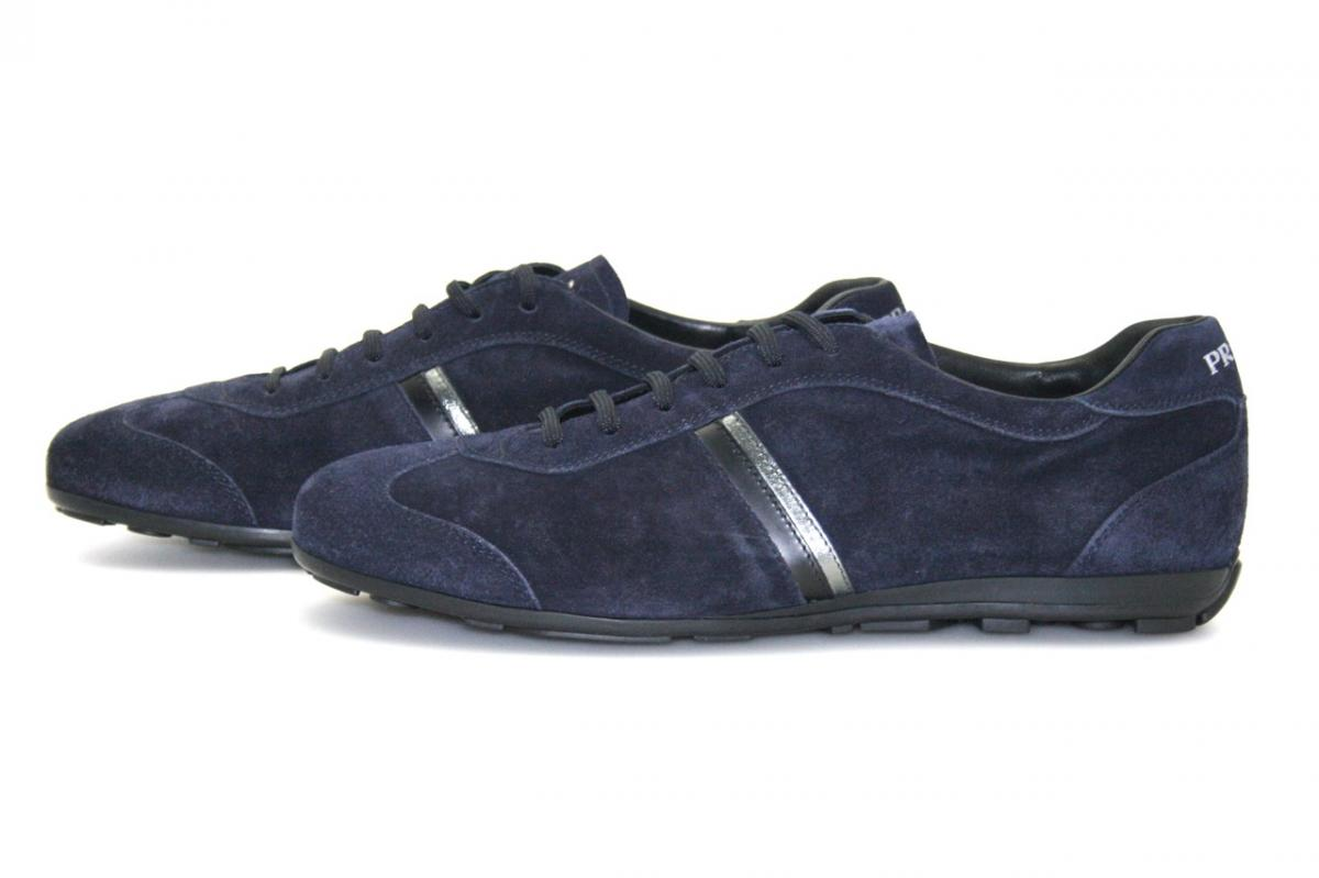 authentic luxury prada sneakers shoes 4e1965 blue new 7 5 41 5 42 ebay. Black Bedroom Furniture Sets. Home Design Ideas