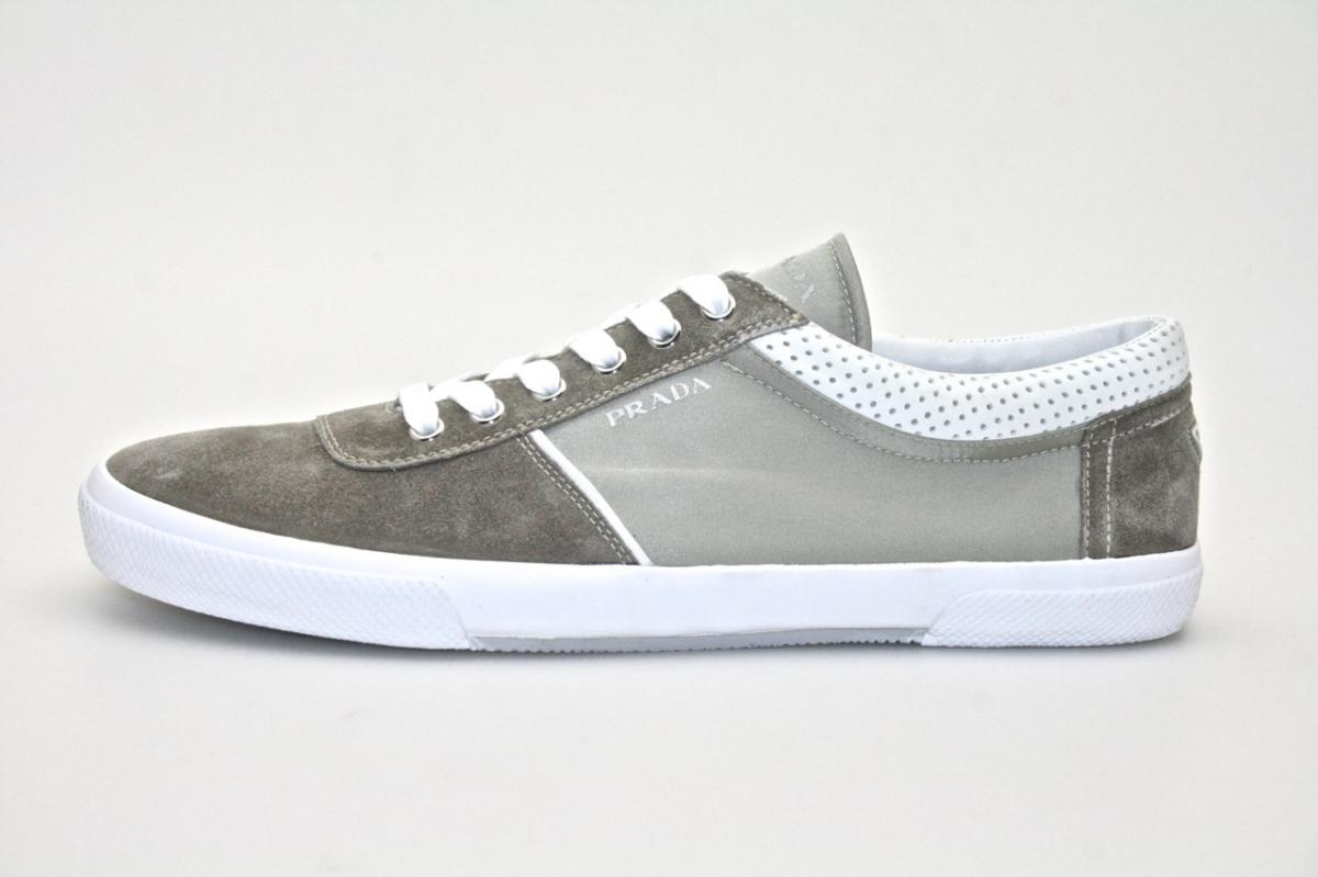 authentic luxury prada sneakers shoes 4e2134 new us 11 eu 44 44 5 ebay. Black Bedroom Furniture Sets. Home Design Ideas