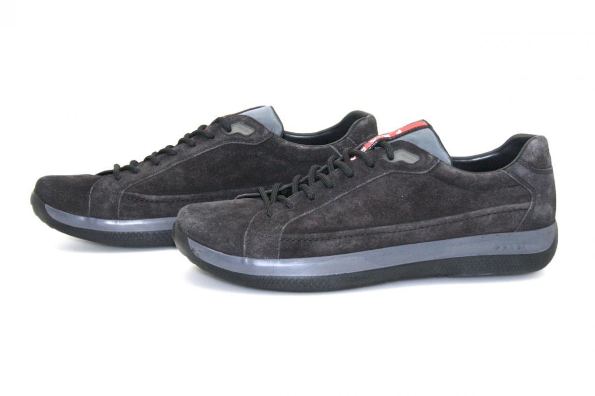 luxus prada sneaker schuhe 4e2265 anthracite neu new 9 43 43 5 ebay. Black Bedroom Furniture Sets. Home Design Ideas