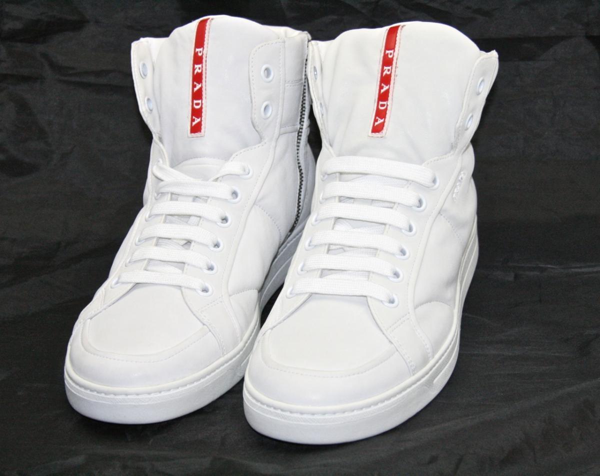 prada sneaker sportliche prada sneaker modell 4t2596 bi farbe bianco ...