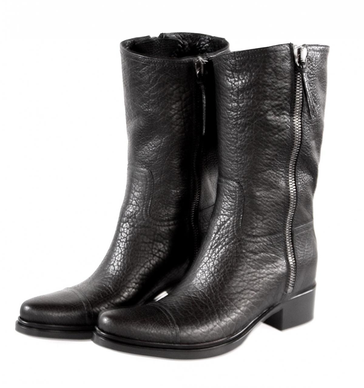 luxury miu miu by prada boots 5u8936 black buffalo new nib us 7 5 eu 37 5 38 ebay. Black Bedroom Furniture Sets. Home Design Ideas