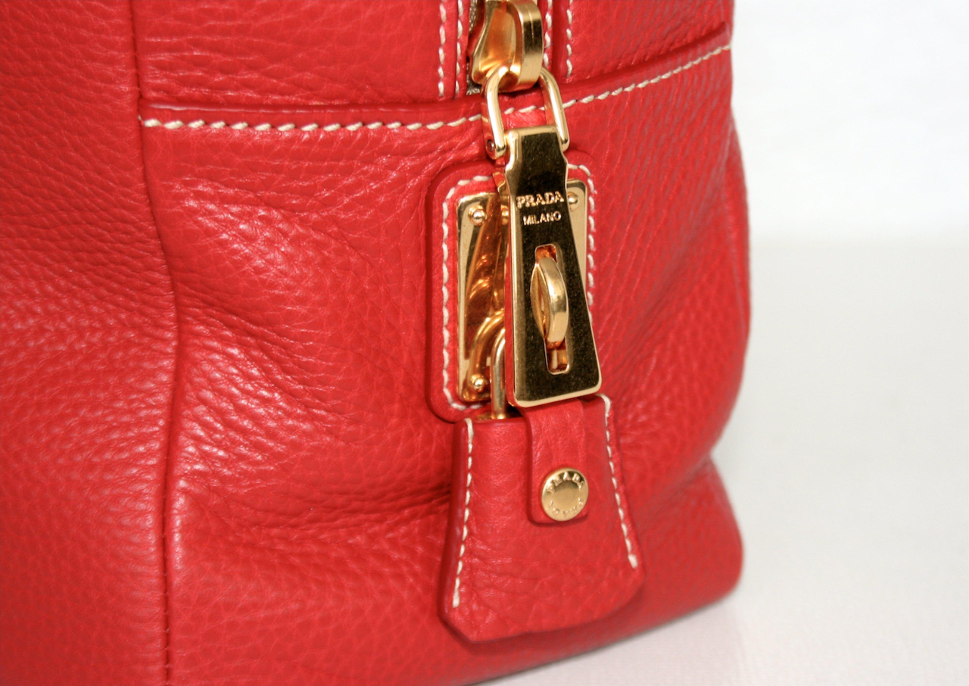 prada handbag bag purse handbag bag new new bl0816 rosso. Black Bedroom Furniture Sets. Home Design Ideas