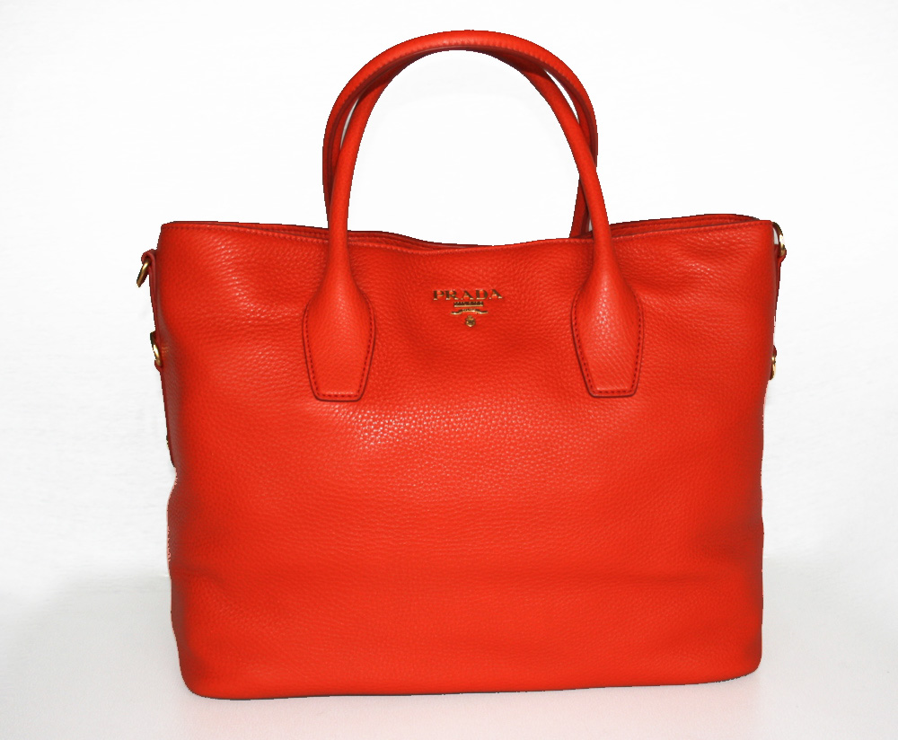 prada luxus handtasche tasche purse handbag bag neu new bn2317 papaya ebay. Black Bedroom Furniture Sets. Home Design Ideas