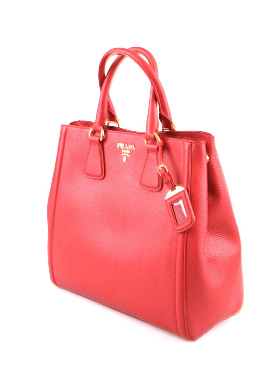 luxus prada tasche shopper handtasche bn2424 rot rosso neu. Black Bedroom Furniture Sets. Home Design Ideas