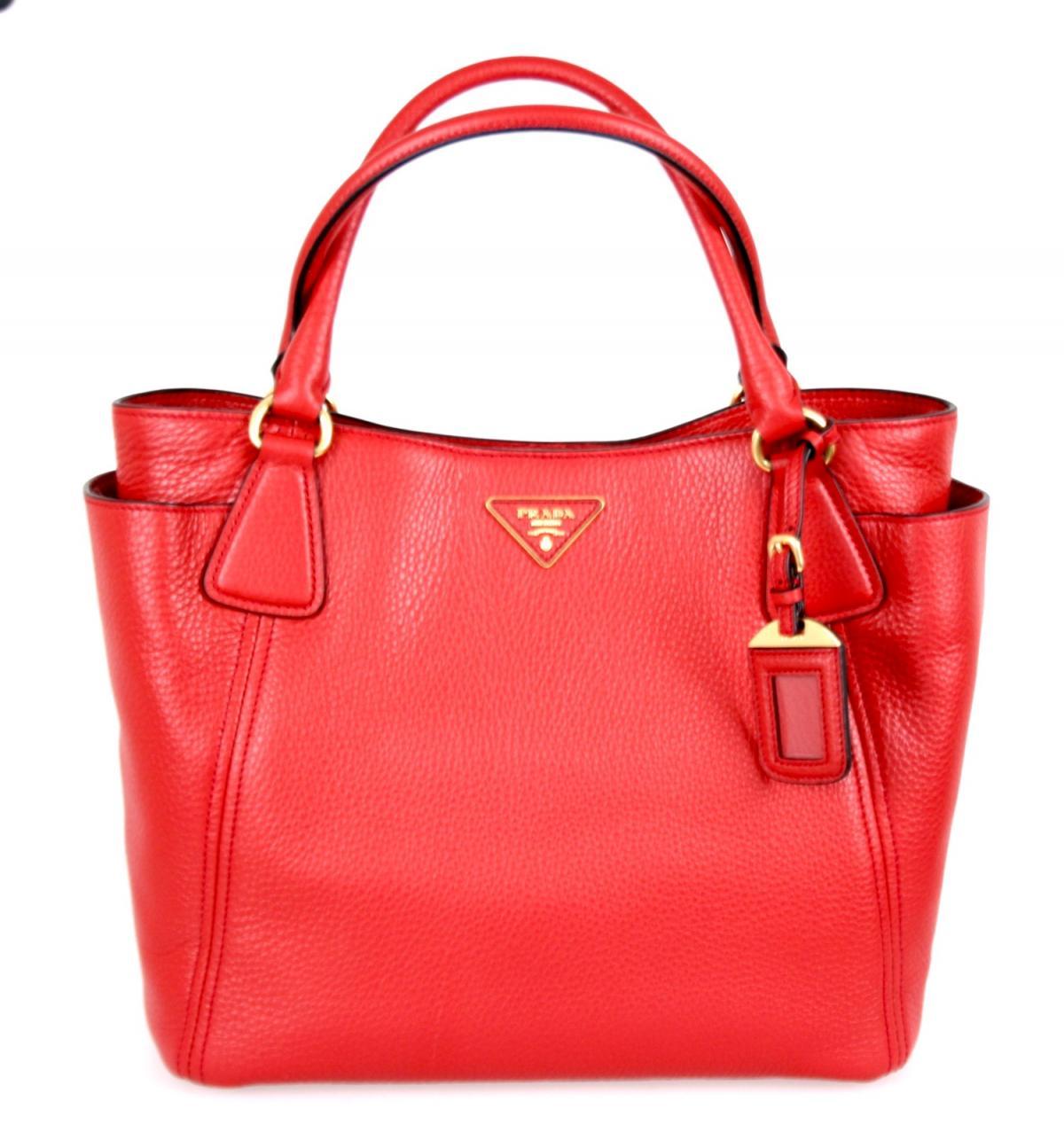 luxus prada schulter tasche handtasche bn2435 rot neu new. Black Bedroom Furniture Sets. Home Design Ideas