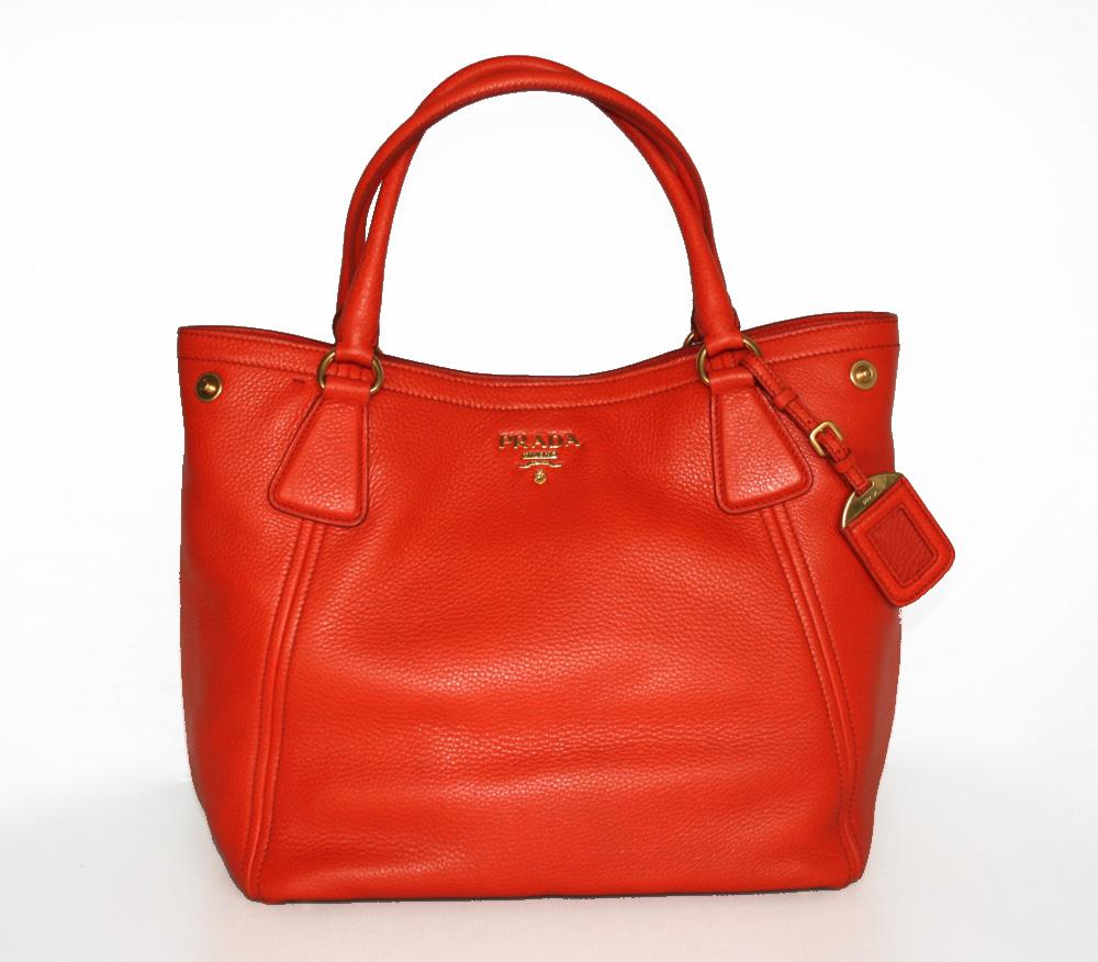 prada luxus handtasche tasche purse handbag bag neu new bn2534 papaya ebay. Black Bedroom Furniture Sets. Home Design Ideas