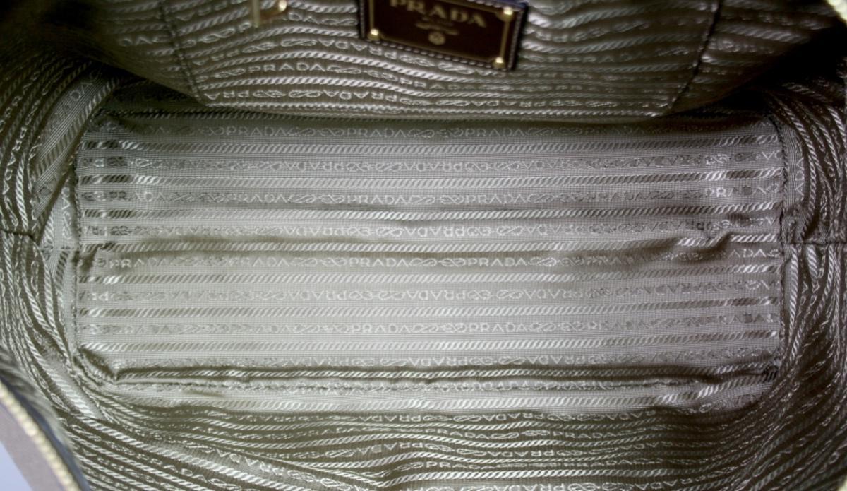 Details zu LUXUS PRADA TASCHE SHOPPER HANDTASCHE 1BG253 BEIGE BRAUN CANVAS NEU