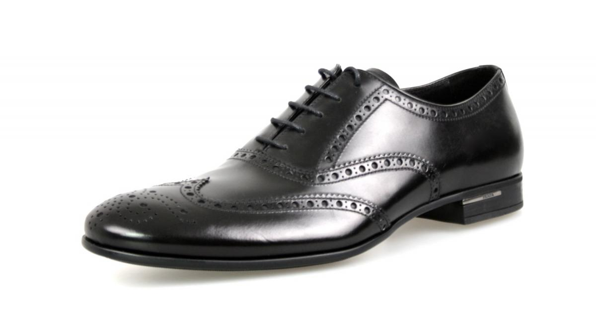 Men's 2EA118 Full Brogue Leather Business Shoes